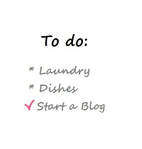 To do list start blog, even voorstellen simple thoughts