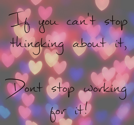cant stop thinking dont stop working