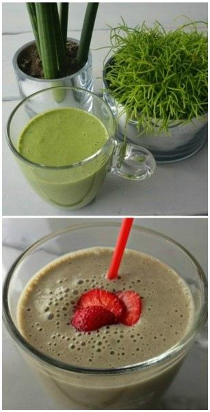 Simple Thoughts - Groene smoothie en aardbei