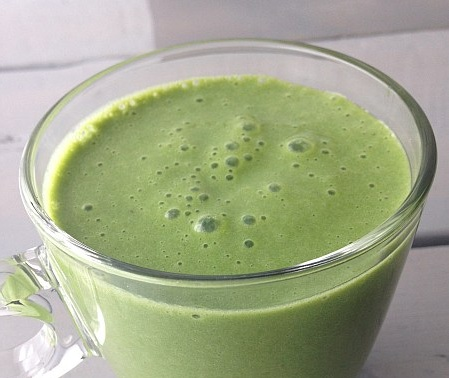 simple thoughts groene smoothie, spinazie, banaan