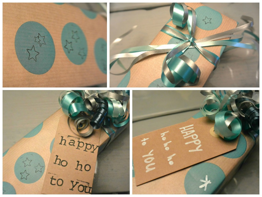 simple thoughts kerst cadeau stempel