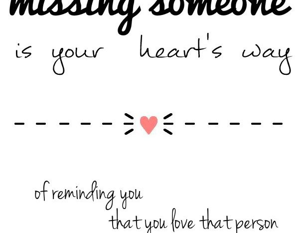 simple thoughts quote missing someone