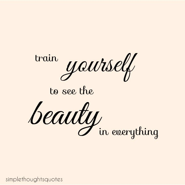 see the beauty in everything quote