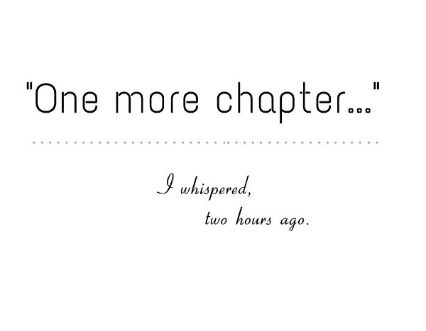 simple thoughts quotes one more chapter