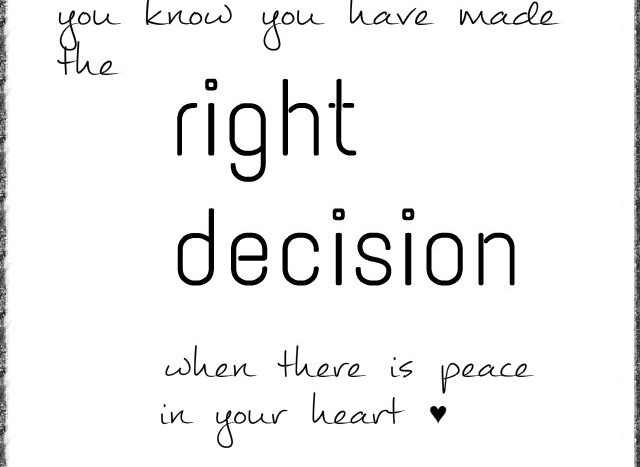 simple thoughts decision