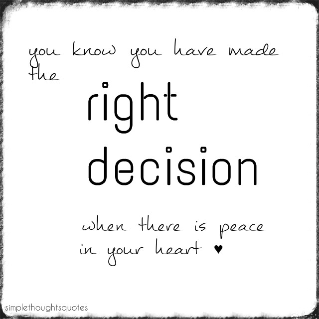 Decision - quote van de week