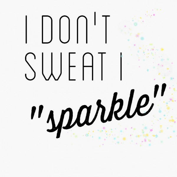 simple thoughts sweat sparkle quote