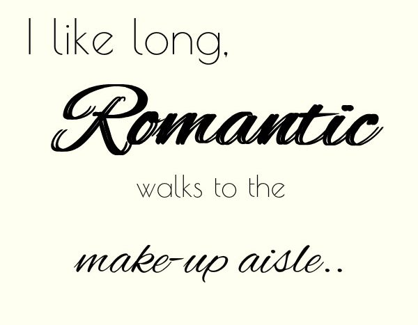 simple thoughts make-up quote