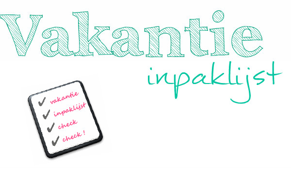simple thoughts vakantie inpaklijst checklist