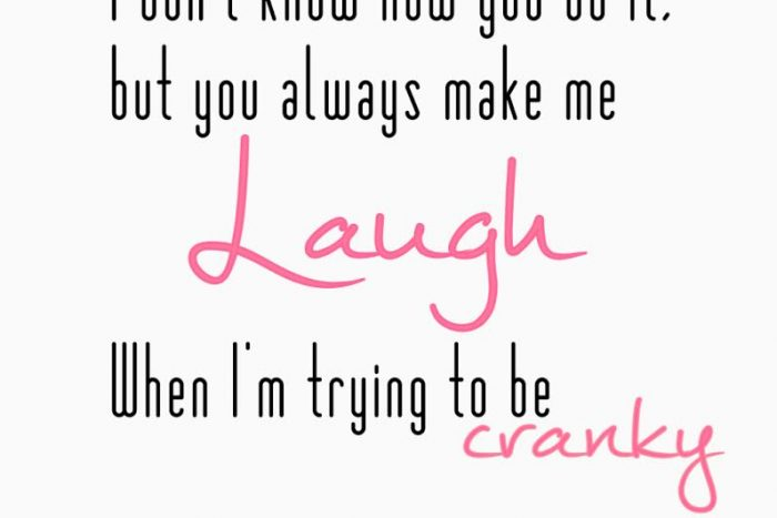 simple thoughts laugh quote