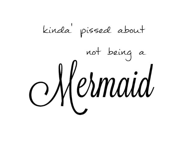 simple thoughts mermaid