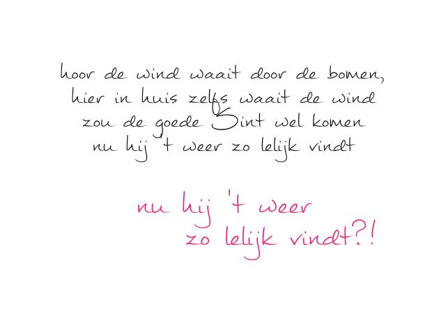 simple thoughts hoor de wind waait