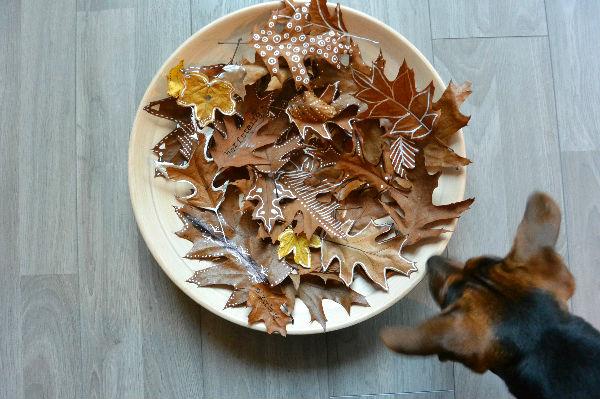 simple thoughts simpele herfst decoratie bladeren versieren