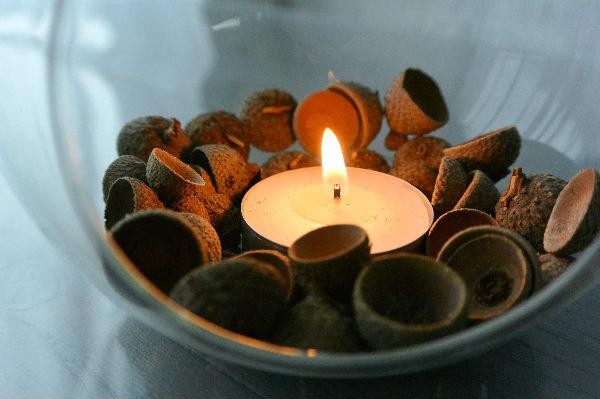 simple thoughts simpele herfst decoratie eikel dopjes
