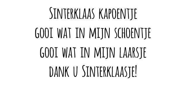 simple thoughts sinterklaas