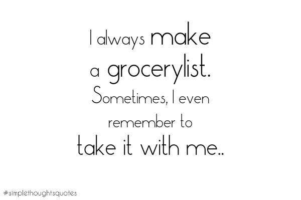 simple thoughts boodschappen lijst shoppinglist