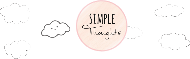 simple thoughts banner