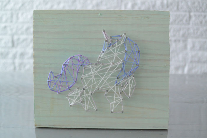 simple thoughts crea hop diy unicorn string-art winactie