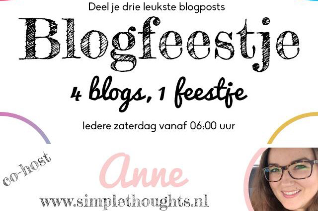 blogfeestje co-host anne simple thoughts