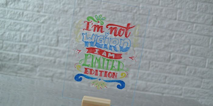 tekenplaat raamtekening krijtstift simple thoughts